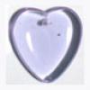 Glass Bead Heart 7X24mm Strung - Alexandrite